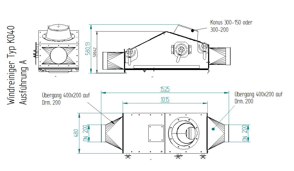 Windreiniger KO40 Zeichnung Maschinenbau Brama GmbH